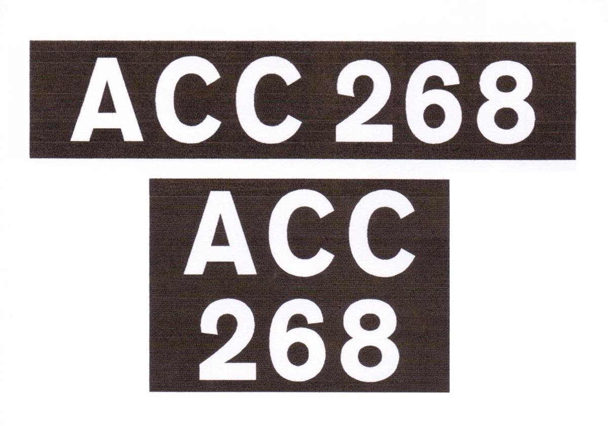 Number Plate Stencils - Fergie Trailer ShopFergie Trailer Shop